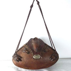 59f3e3834389 Vintage Bags - Vintage Armadillo Purse Taxidermy Bag